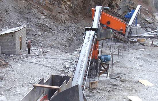 玄武岩制砂生产现场